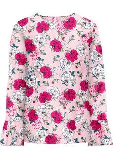 Блузка с воланами (розовый в цветочек) Bonprix