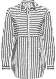 Блузка в полоску (белый/нейтрально-серый в полоску) Bonprix