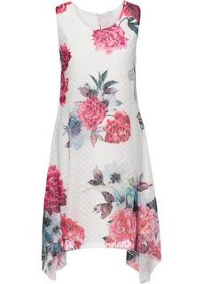 Платье с цветочным принтом (кремовый в цветочек) Bonprix