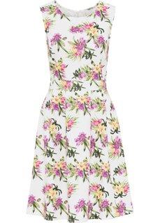 Платье с цветочным принтом (белый в цветочек) Bonprix
