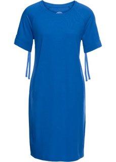Платье из легкого трикотажа, короткий рукав (лазурный) Bonprix