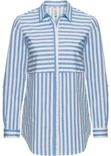 Блузка в полоску (голубой/белый в полоску) Bonprix