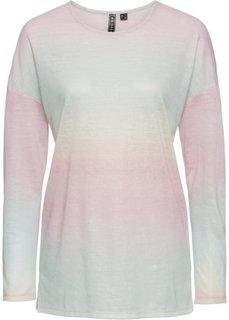 Футболка удлиненного покроя (розовый батик/бирюзовый/желтый) Bonprix