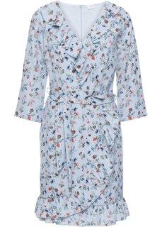 Платье из шифона с воланами (синяя пудра в цветочек) Bonprix