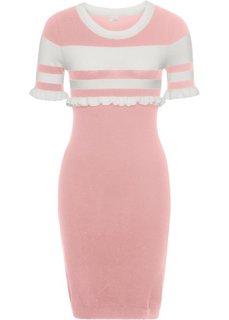 Платье (ярко-розовый/белый) Bonprix