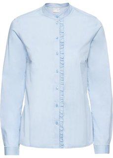 Блузка с воланами (синий пастельный) Bonprix