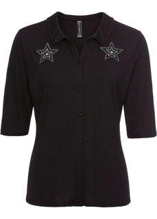 Футболка со звездами (черный) Bonprix