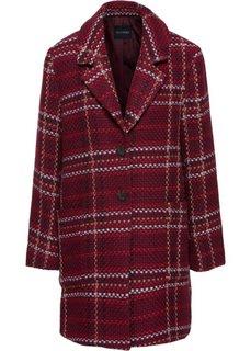 Клетчатое пальто из материала букле (красный каштан в клетку) Bonprix