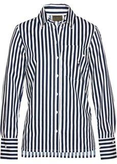 Блузка с бусинами (темно-синий/белый в полоску) Bonprix