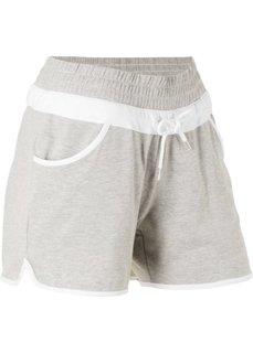 Трикотажные шорты (светло-серый меланж) Bonprix