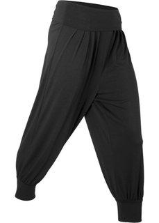 Брюки-саруэл для йоги (черный) Bonprix
