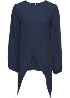 Блузка с вырезами и декоративными узлами (темно-синий) Bonprix