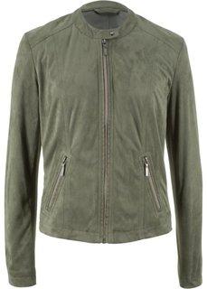 Куртка из искусственной замши (оливковый) Bonprix