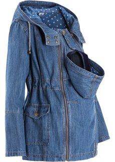 Джинсовая куртка для беременных со вкладкой для малыша (синий «потертый») Bonprix