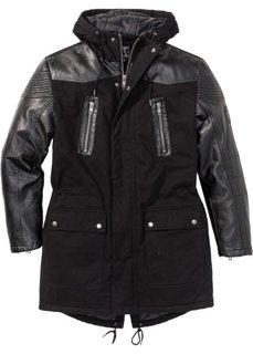 Пальто Regular Fit в байкерском стиле (черный) Bonprix