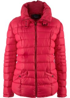 Стеганая куртка с воротником-стойкой (красный) Bonprix