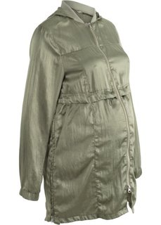 Куртка удлиненного покроя, для беременных (оливковый) Bonprix