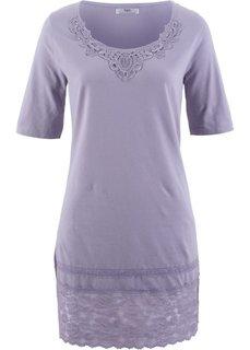 Удлиненная футболка (дымчато-фиолетовый) Bonprix