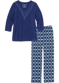 Пижама (полуночная синь с рисунком) Bonprix