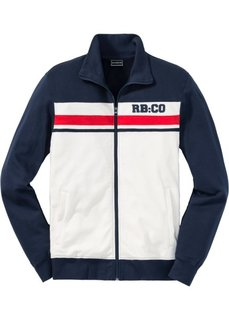 Трикотажная куртка Slim Fit (темно-синий/кремовый) Bonprix