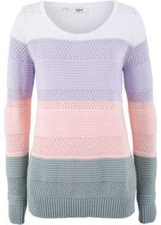 Пуловер (сиреневый в полоску) Bonprix