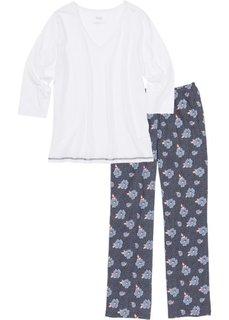 Пижама (синий с рисунком) Bonprix