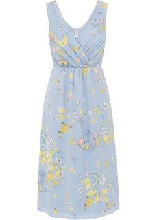 Платье (синяя пудра/рисунок с бабочками) Bonprix