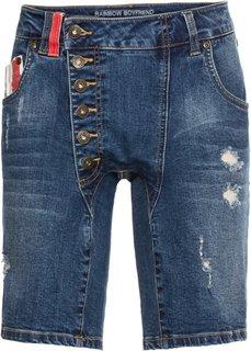 Шорты джинсовые (синий «потертый») Bonprix