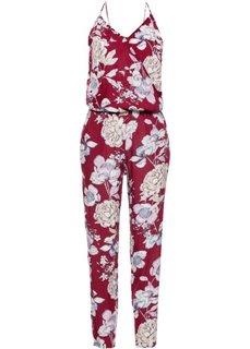 Комбинезон с цветочным принтом (красный в цветочек) Bonprix