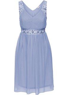 Платье вечернее (синий матовый) Bonprix