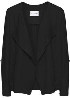 Куртка с вырезом-хомут (черный) Bonprix