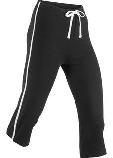 Спортивные брюки капри с эффектом стретч (черный) Bonprix