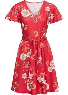 Платье с цветочным принтом (красный в цветочек) Bonprix