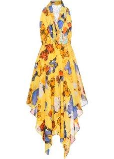 Платье (желтый с бабочками) Bonprix