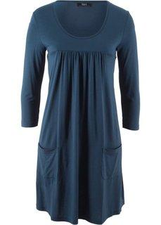 Трикотажное платье с рукавами 3/4 (темно-синий) Bonprix