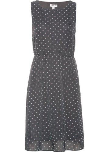 Платье в горошек (дымчато-серый/нежно-розовый в горошек)