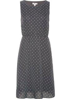 Платье в горошек (дымчато-серый/нежно-розовый в горошек) Bonprix