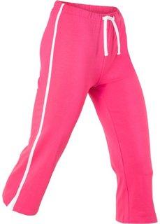 Спортивные брюки капри с эффектом стретч (ярко-розовый) Bonprix