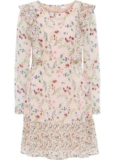 Платье из шифона (нежно-розовый в цветочек) Bonprix