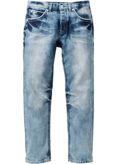 Джинсы прямые Regular Fit, длина (в дюймах) 32 (синий «потертый») Bonprix