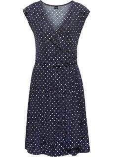 Платье в горошек (темно-синий/экрю) Bonprix