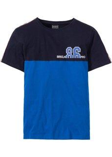 Футболка Regular Fit (темно-синий/лазурный) Bonprix