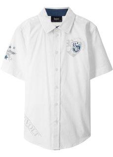 Рубашка с коротким рукавом (белый) Bonprix