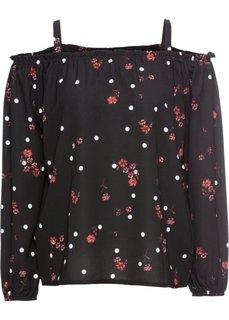 Блузка с принтом (черный с рисунком) Bonprix