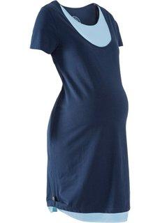 Платье для беременных и будущих мам с функцией кормления (темно-синий/нежно-голубой) Bonprix
