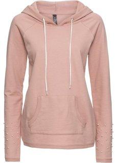 Куртка с бусинами, из трикотажа (винтажно-розовый) Bonprix