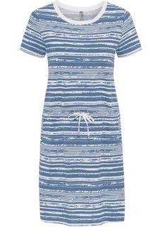 Платье из трикотажа (синий джинсовый/белый в полоску) Bonprix