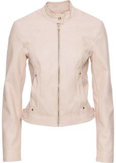 Куртка из искусственной кожи (розовый) Bonprix