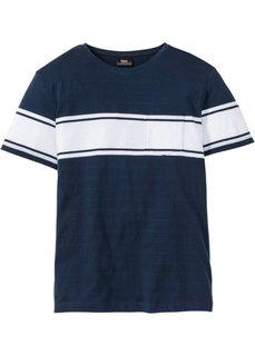 Футболка Regular Fit с полосками (темно-синий) Bonprix
