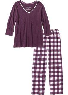 Пижама (цвет бузины/кремовый) Bonprix